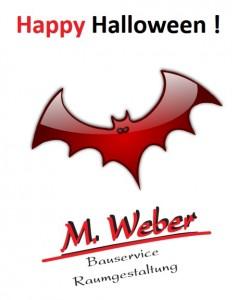 Weber Bauservice & Raumgestaltung aus Schwerinsdorf wünscht Happy Halloween 2017!