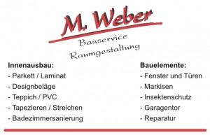 Weber Bauservice Visitenkarte Seite 2